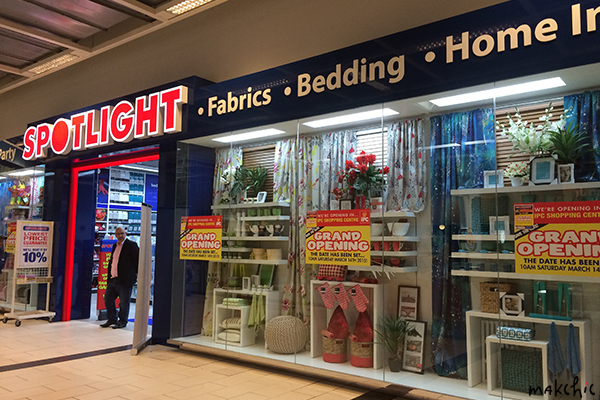 spotlight australia s largest fabric craft home interior store now open at ipc shopping centre