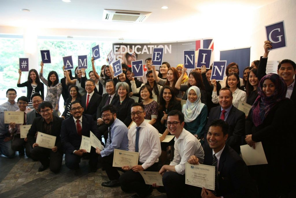 Khairun Nisa with her fellow Chevening scholarship recipients. Photo republished with permission.