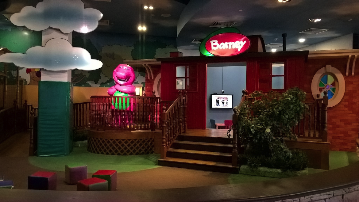 Barney fans may recognise this play area from the tv show