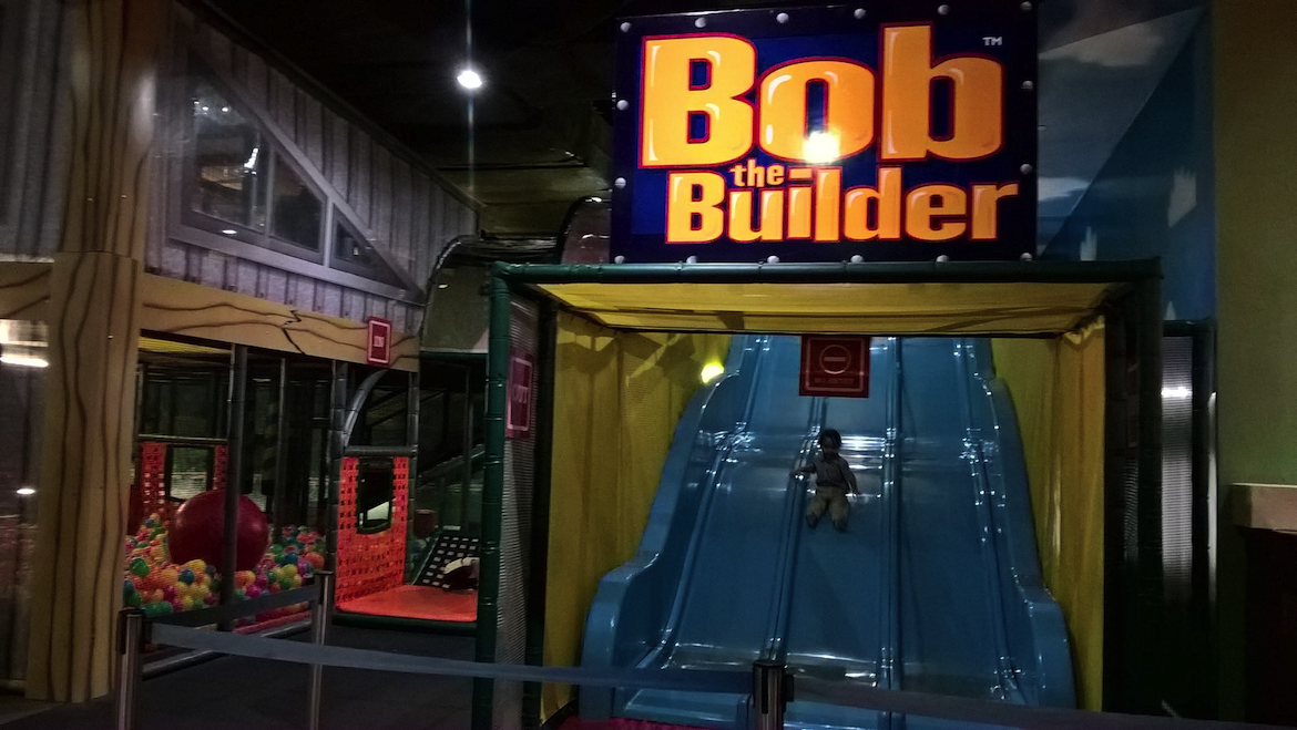 Lots of slides at the Bob the Builder playground.