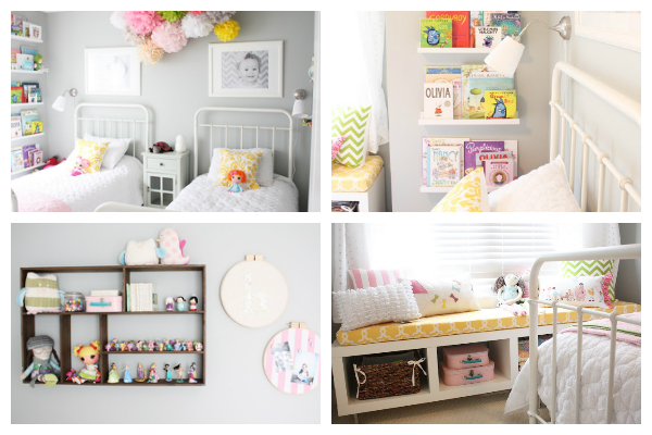 amazing the minimalistic look of this room with the bright colors and grey walls go so - Ikea Shared Kids Room