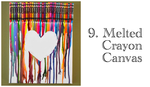 9 Melted Crayon