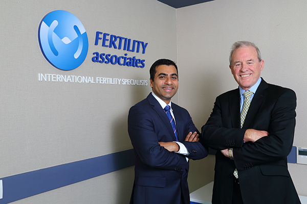Dr. Arasu, Medical Director of fertility Associates Malaysia, Dr. Richard Fisher, Co-founder Fertility Associates NZ